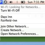 Day's Inn internet better at times than Fairfield's own (screenprint from inside Fairfield room)