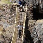 enjoy ,hanging bridge of the Incas, you will feel wonderful experience