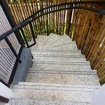Steps to Villa.