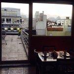 vista do restaurante para o terraço