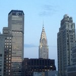 The Magnifique Chrysler Building from our Suite window