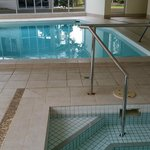 The gym, indoor pool and spa