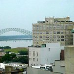 View of the Mississippi River from my room at The Beautiful Peabody Hotel
