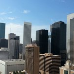 View of Downtown Houston from the 24th floor and pool area.