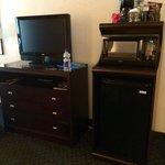 TV, fridge, Microwave & coffee