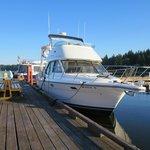 Beautiful wide docks at Taku Marina