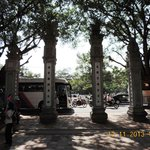 Four pillars in front of The Great portico(Van Mieu gate)
