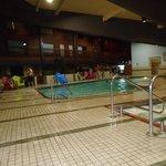 The smaller indoor pool