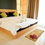 Master bedroom in 2-bedroom apartment