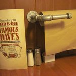Famous Dave's Napkin on a Roll.