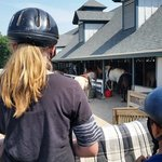 getting instructions before horseback riding