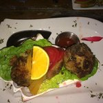 Crab Cakes in a conch shell