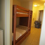 Hallway bunkbeds.