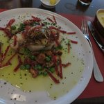Cod and chorizo with perfect mashed potato
