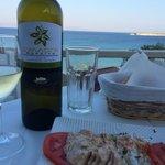 Organic vine, organic homemade food, stunning view