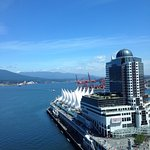 The view from our room on a sunny Vancouver day!