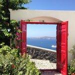 The super romantic red door entrance