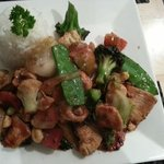 Chicken and Cashews with rice