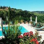 Pool und Landschaft
