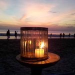 Candlelight, seafood, sunset and beer - Romance heaven!