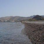 Strandsicht Richtung Lindos
