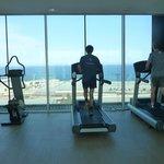 gym face à la mer