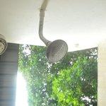 Open air shower @ Deluxe rooms
