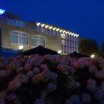 hotel van af het terras
