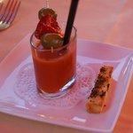 Gazpacho en amuse-bouche