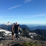 Atop the mountain following my proposal