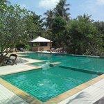 Очень чистый бассейн, где всегда спокойно и тихо.