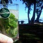 apéritif sur la plage (Isautier, le meilleur Rhum de la Réunion)