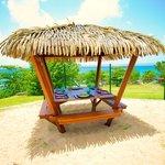 Snack Bar les pieds dans le sable du Karibea Resort Sainte Luce hôtel Amyris