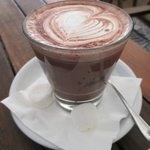 buttered salted caramel dark hot chocolate