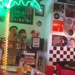 crazy 50's decor and music