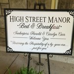 High Street Manor front door