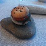 Antipasto offerto: hamburger di tonno