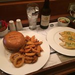 £30 Burger meal from room service