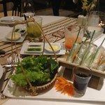 Our dinner - fresh spring rolls