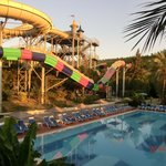 View from Italian rest to water park