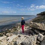 Old Hunstanton beach after high tide.