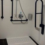 Level access shower in room