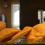 Fresh pita bread baked daily.