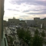 View of the Brandenburg Gate from our room.