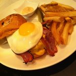 Angus Beef Burger with Bacon and Egg