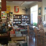 cafe, bookshop in one