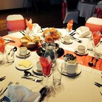 Banqueting set up