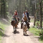 Trail ride leaving the ranch