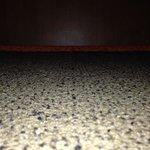 another view of the gap below the door