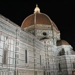 Night view of Santa Maria del Fiore (Duomo) is the cathedral of Florence built 1436